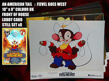 "RARE VINTAGE 10""x8"" UK  COLOUR FOH LOBBY CARD STILL SET(x8) AN AMERICAN TAIL II"
