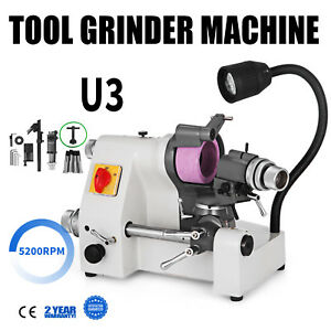 U3 Universal Cutter Grinder Sharpener Multi-function Lathe Tool 5200RPM End Mill