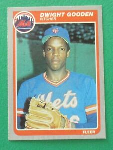 DWIGHT (DOC) GOODEN New York METS 1985 FLEER BASEBALL CARD #82