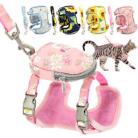 Soft Mesh Dog Cat Vest Harness and Leash with Treat Bag Reflective for Small Dog