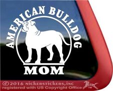 American Bulldog Mom | High Quality Vinyl Dog Decal Sticker