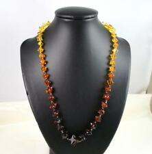 Rare Amber Star Bead Necklace