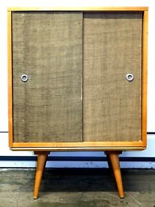 Vintage MCM Paul McCobb  #1512 Credenza Cabinet with Rare Matching  #1540 Bench