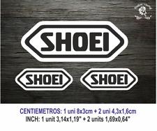 Shoei MOTO GP Visor Casco Negro Vinilo Pegatina Sticker Vinyl Decal Aufkleber