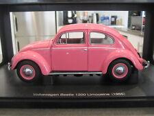 1:18 AUTOART 79775 1955 VOLKSWAGEN VW BEETLE 1200 PINK *NEW* 1 OF 1000 - RARE!!!