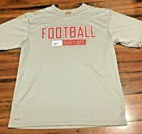 Vintage Ohio State Buckeyes Football Nike Team Issued Fit-Dri Practice Shirt L.