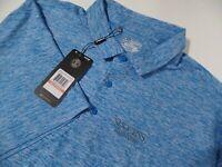 NEW Under Armour Heat Gear Loose Fit Golf Shirt Men's Size 3XL Heather Blue