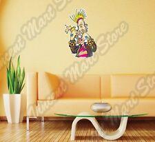 "Ugly Nasty Punk Rocker Spiky Hair Beer Wall Sticker Room Interior Decor 18X25"""