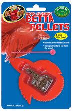 x3/x5/x10 ZooMed Micro Floating Betta Pellets Fish Food Plus Feeding Wand .12oz