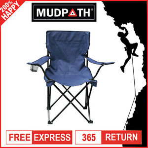 OzEagle Quad Folding Chair Camp Outdoor Portable Hiking Fishing Beach Arm Chair