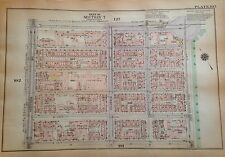 1925 UPPER WEST SIDE  AND EAST SIDE MANHATTAN NYC G.W. BROMLEY ATLAS MAP 12X17