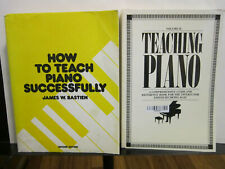 Lot of Two books on Teaching Piano. James Bastien and Denes Agay. Good/Very Good