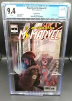 Magnificent Ms. Marvel #1 CGC 9.4 Tarr Variant KAMALA KHAN Disney Plus + MCU 🔥