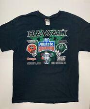 Georgia vs Hawaii 2006 Sugar Bowl T shirt XL allstate New Orleans