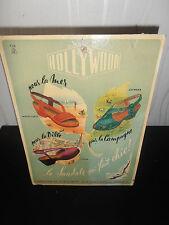 carton publicitaire ancien vintage mode chaussure Hollywood  ( ref 20 )