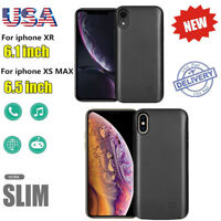 For iPhone XR/XS Max External Battery Charger Case Backup Cover Power Bank Pack