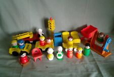 Vintage Fisher Price Little People and Vehicle Lot
