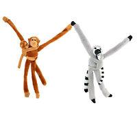 Animal Plush Toys With Velcro Straps Soft Cuddly Orangutan /Lemur With Baby 38cm