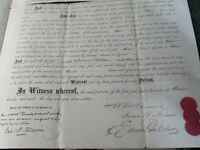 1868 Antique Indenture, Deed on 60-61st St. 10-11th Avenue NY City, Hudson River