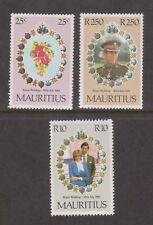 1981 Royal Wedding Charles & Diana MNH Stamp Set Mauritius SG 615-617