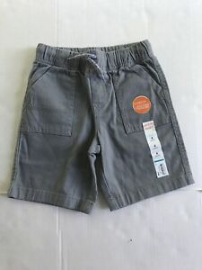 New With Tag Boys Pull On Khaki Shorts Size 4 Gray Jumping Beans NWT Draw Cord