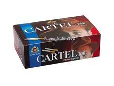 Empty Cigarette 2 BOX CARTEL 2 X 100 = 200 Filtered Cigarette Tubes 84mm