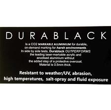 Durablack ENGRAVED SIGN Aluminium OUTDOOR Weatherable UV  200x100