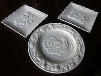 LOT OF 3 NANTUCKET H0ME THANKSGIVING  COLLECTORS PLATES-WHITE PORCELAIN