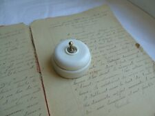French 1  porcelain bakelite  toggle  switch antique / vintage classic style