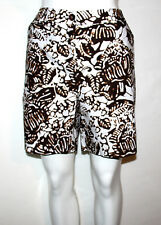 NEW Jones New York Signature 8 Petite Hawaiian Printed Cotton Casual ShortsBROWN