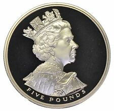 2002 £5 ROYAL MINT CROWN GOLDEN JUBILEE ACCESSION 5 POUND COIN UNCIRCULATED b