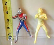 "Ultraman Dyna 2 Figure Toy Set 4"" Ultra 1997 Flash Type Golden US SELLER!"