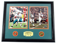 Dan Marino/Bob Griese Highland Mint Framed Display Dolphins Pin & Coin DF024445