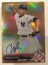 Chance Adams 2017 Bowman Chrome Auto Refractor /50 Signature NY Yankees CPA-CAD