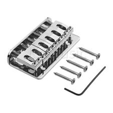 6 String Fixed Bridge Hardtail Guitar Tailpiece for Electric Guitar Parts Chrome