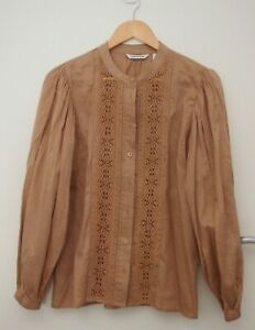 Country Road Tan Cotton Shirt   ~Size 10~