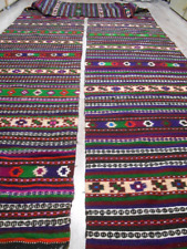 Antique Colorful Wool Rug Runner 7,5x0,7m 1930s Ukraine Bukovyna NEVER USED
