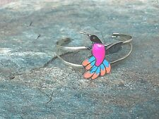 Alpaca Silver Hummingbird Cuff Bracelet by Artesanas Campesinas New mb002