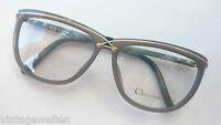 Christian Dior Brille Damenfassung graugrün Designerware Vintagefassung Grösse M