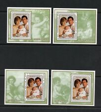 L430  Niue 1982  Christmas Royal Family  charity sheets   MNH