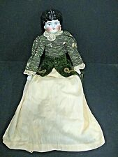 "Antique German Victorian China Head Doll Victorian Dress Large 20"" Blue Eyes #5"