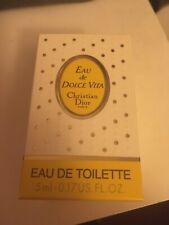 Christian Dior EAU DOLCE VITA Eau De Toilette 5ml Miniature Bottle Original Box