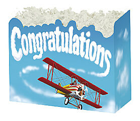 Large Congratulations Boxco Gift Basket Box