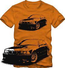 T-Shirt  BMW E 36 M3   Tuning T-Shirt  viele Farben  Retro Style S/W Grafik DTG