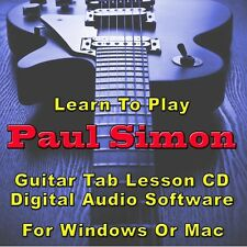 PAUL SIMON Guitar Tab Lesson CD Software - 35 Songs