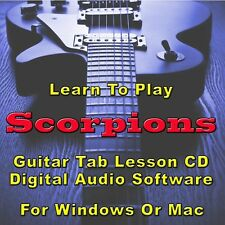 SCORPIONS Guitar Tab Lesson CD Software - 95 Songs