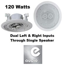 "e-audio White 6.5"" 8 Ohms 120W Dual 2-Way Quality Ceiling Roof Wall Speaker"