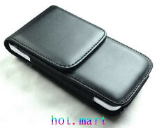 Black Leather Case cover pouch Belt Clip for Apple iPhone 5 5G 5S 5C