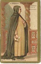 Chromo Chocolat Poulain Les grands hommes 8  Savonarole  moine religion