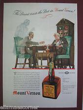 Vintage 1937 Mount Vernon Whiskey Genuine Original Print Ad